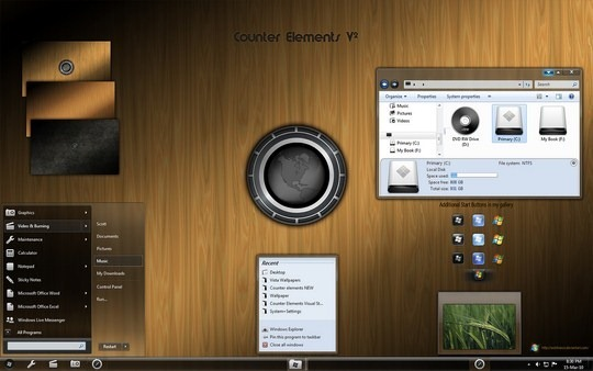 Windows 7 Themes Vectors | Windows Themes Free
