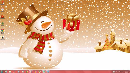 cool windows 7 christmas theme windows themes free