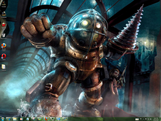 Download Free Bioshock 2 Windows 7 Theme With Bioshock 2 Sounds ,Icons & Cursors