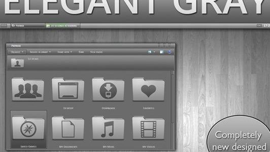 Elegant GRAY Windows 7 Theme 3rd Party