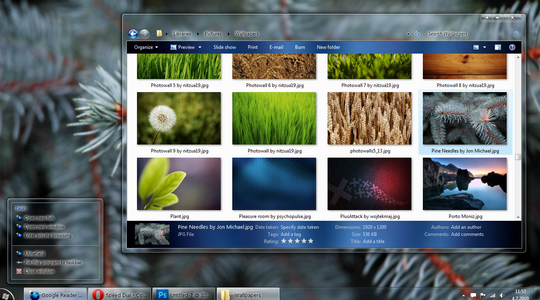 Dark deSATURATED Windows 7 Theme 3rd Party
