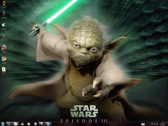 Download Free StarWars Windows 7 Theme With Starwars Sounds ,Icons & Cursors