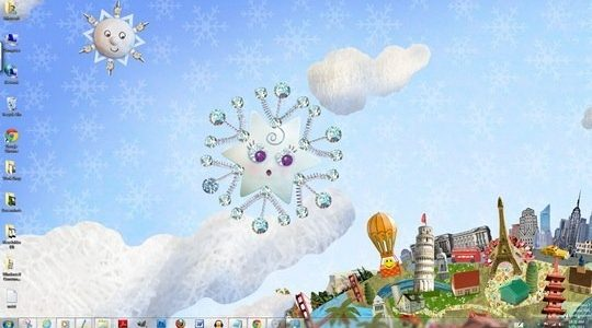 Twinkle Wish Windows 7 Theme For Christmas