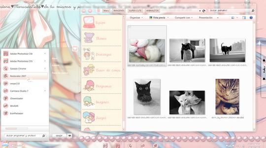 Pink Elune Windows 7 Visual Style