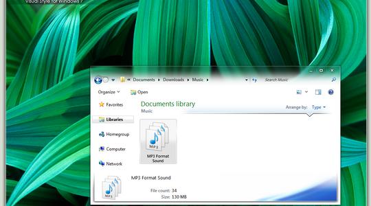 Glow Air Final Windows 7 Visual Style