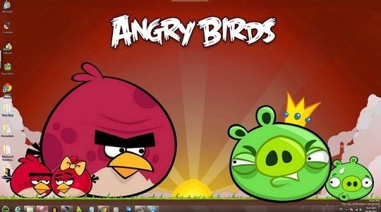 Angry Birds Windows Theme With Icons, Cursors & Sounds