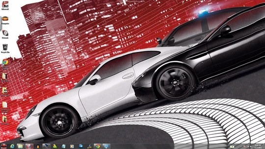 Download Free NFS Most Wanted 2012 Windows Theme With Icons, Sounds & cursors