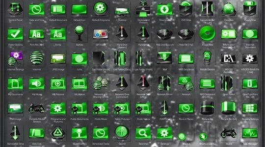 Alien Encounter Green Windows Icon Pack