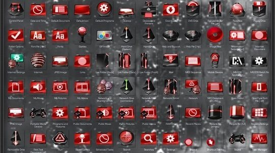 Alien Encounter Red Windows Icon Pack