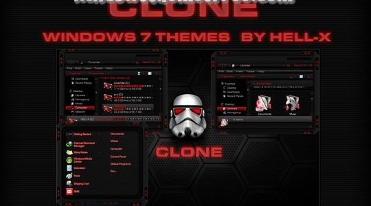 CLONE-RED Windows 7 Visual Style