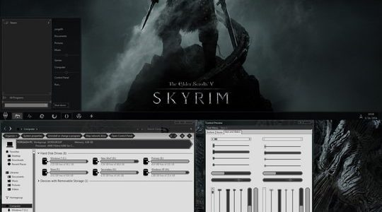 Skyrim Windows 7 Visual Style