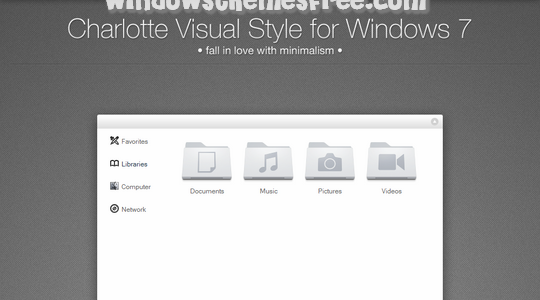 Charlotte Beta Windows 7 Visual Style